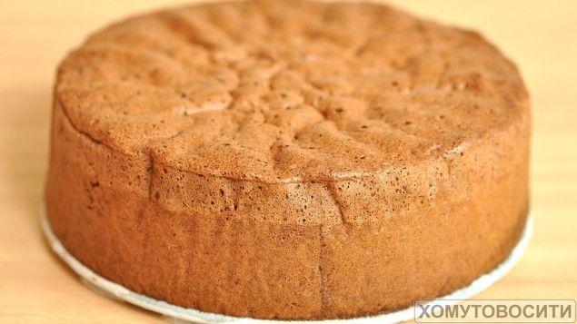 Как сделать бисквит с фото